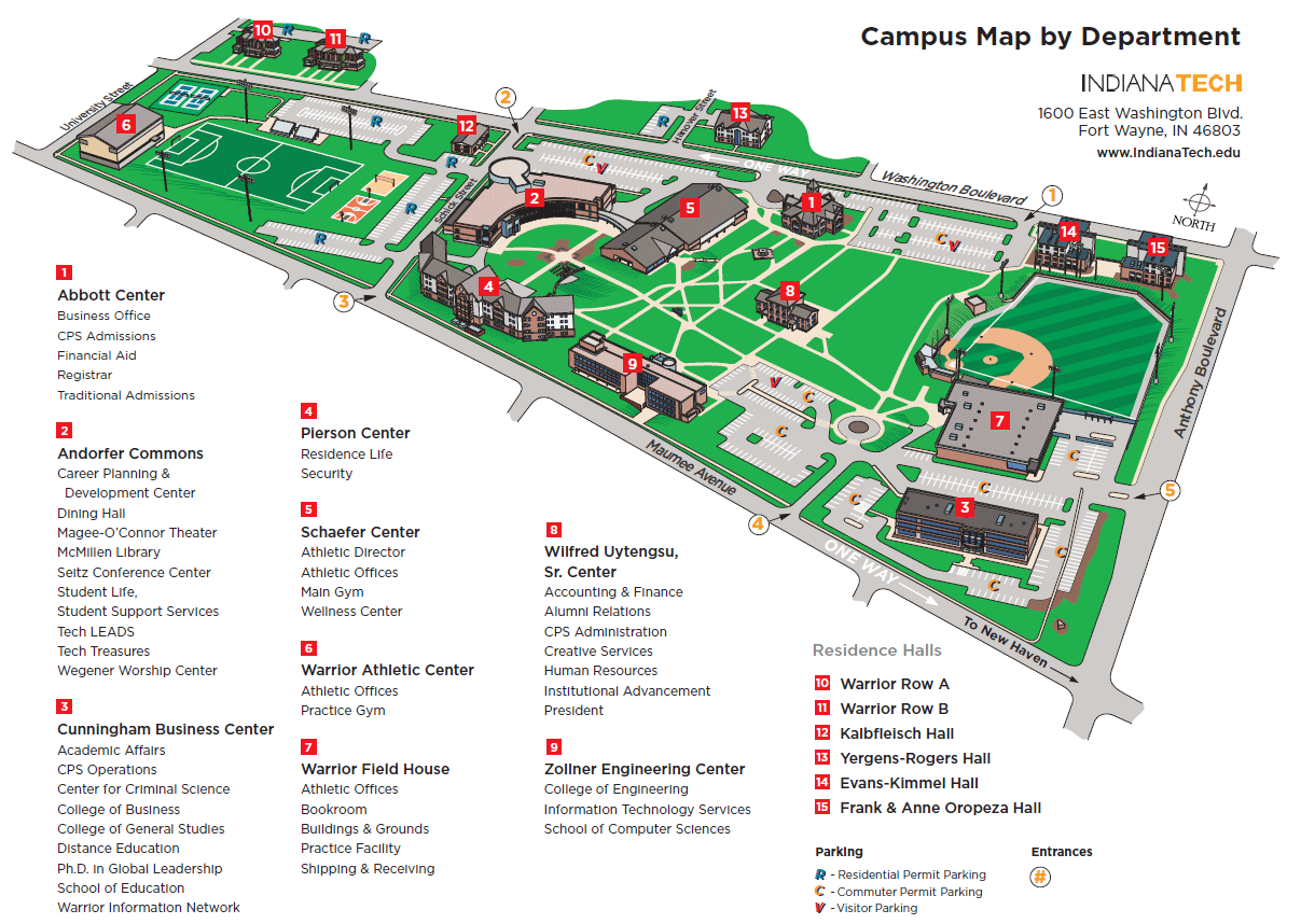 Indiana Campus Map.Campus Map The Urban Insider Fort Wayne