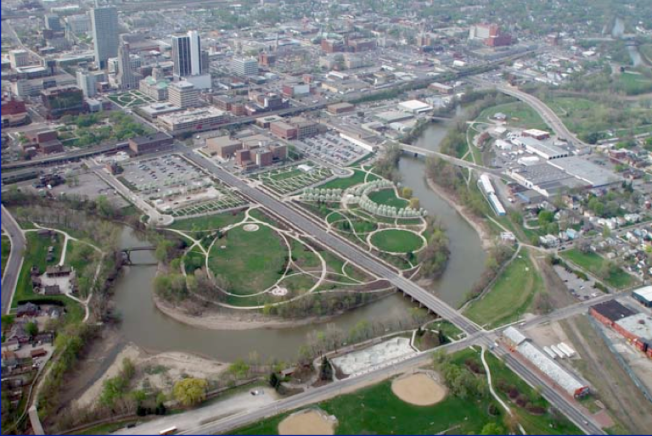 downtown fort wayne headwaters riverfront development